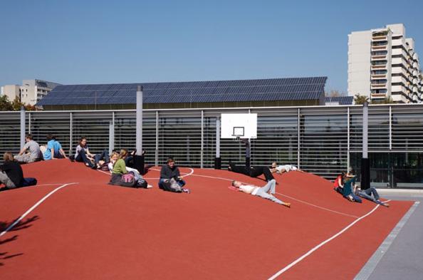 Crazy Basketball Court in Munich, Germany