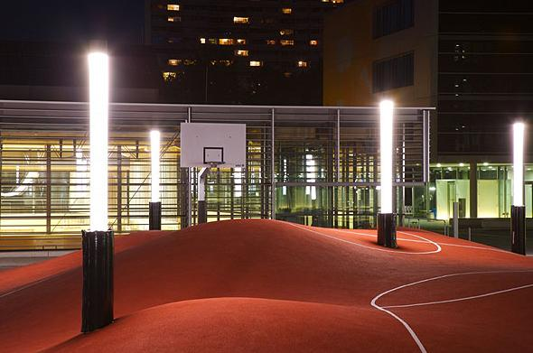 Crazy Basketball Court in Munich, Germany